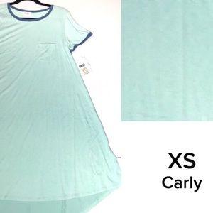 LuLaRoe solid aqua blue XS Carly Dress